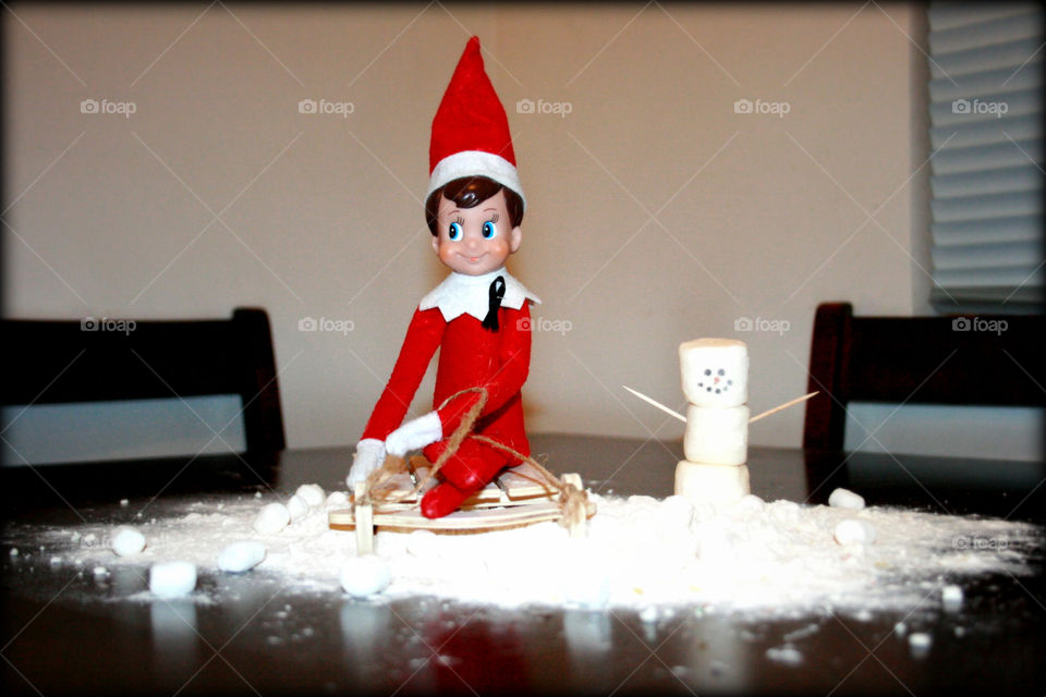 elf on the shelf snowman