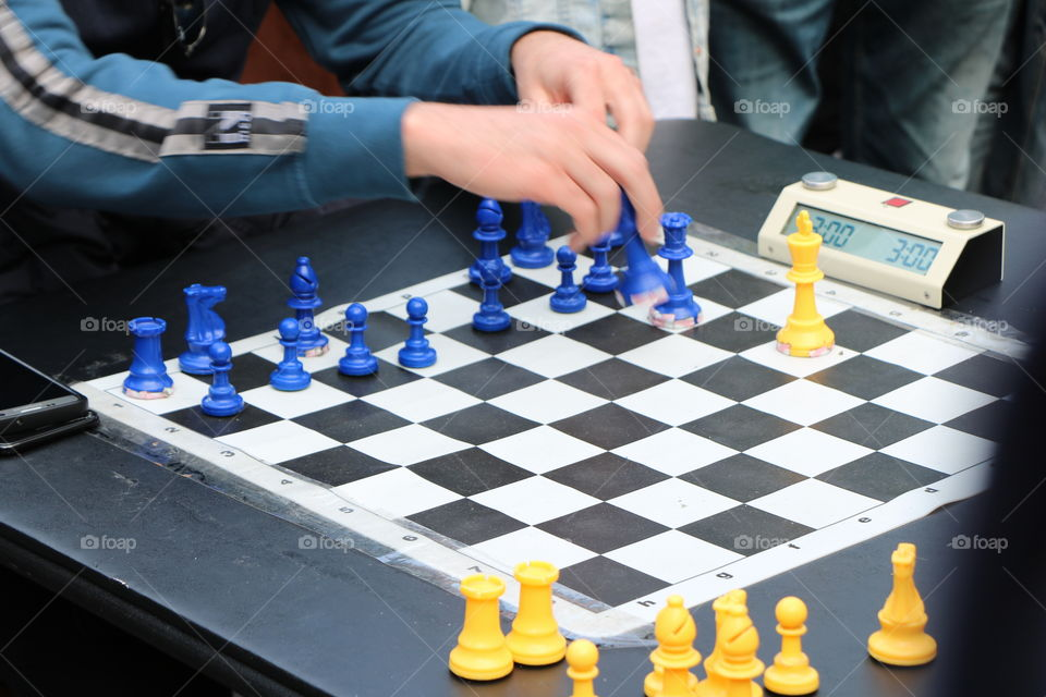 The chess player- he thinks, then he makes a move and every game sharpens his brain , no matter win or lose