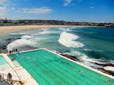 Bondi Beach Sydney Australia. Most Instagramed Beach in the World