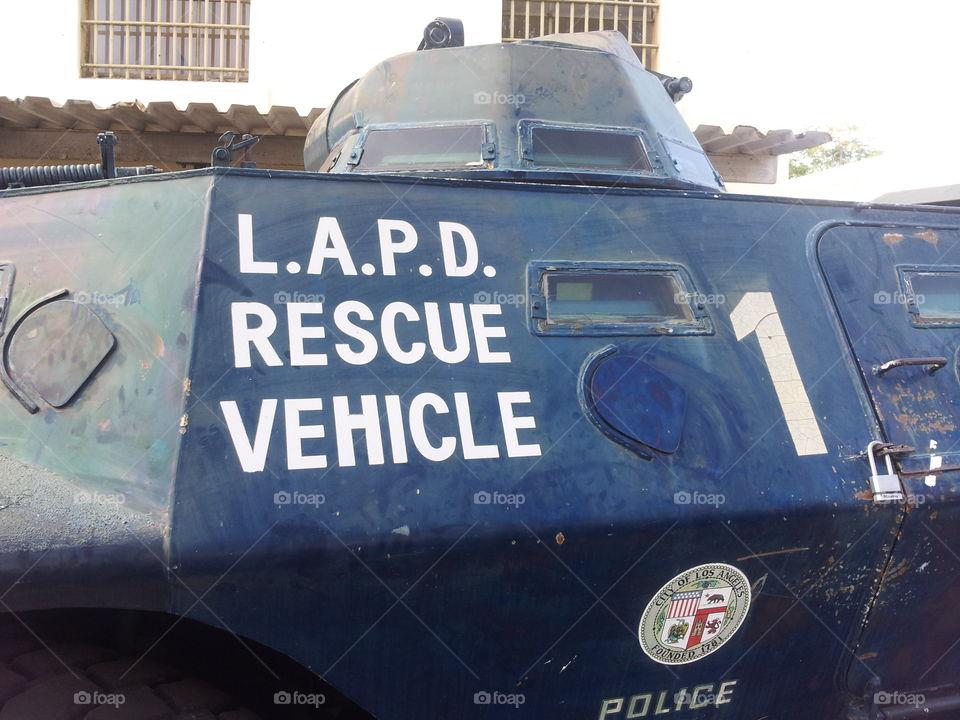 lapd rescue vehicle. lapd rescue