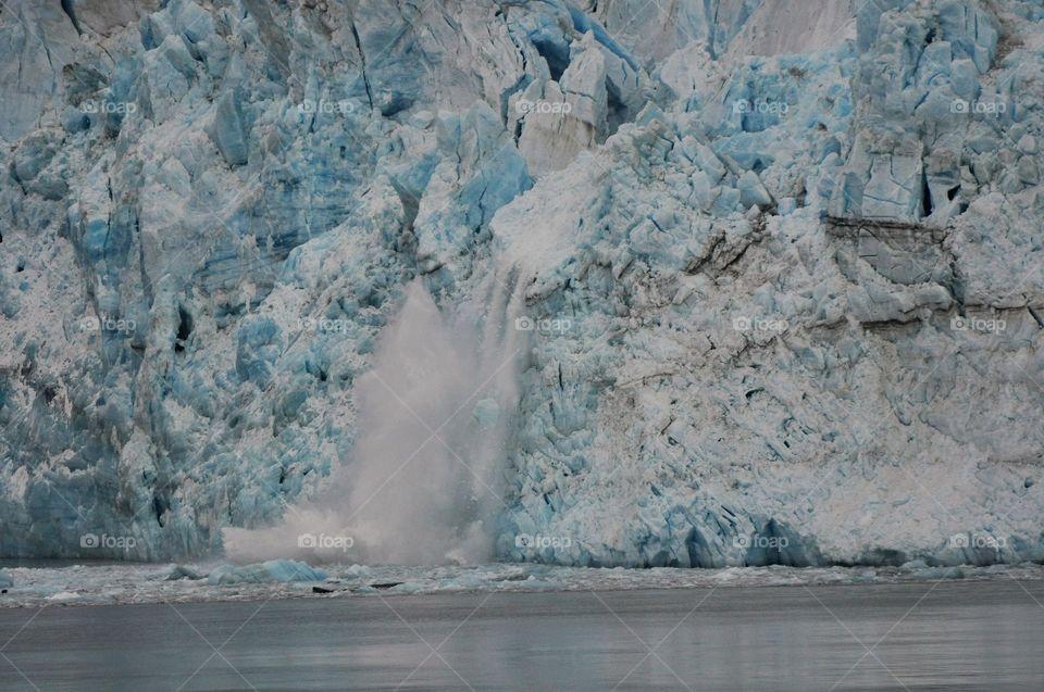 Alaska glaciers calving