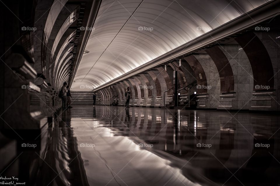 Train station . Moscow city
