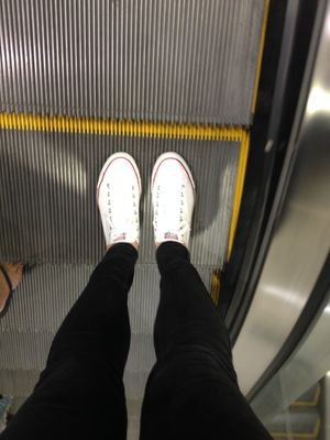 Going up the escalator