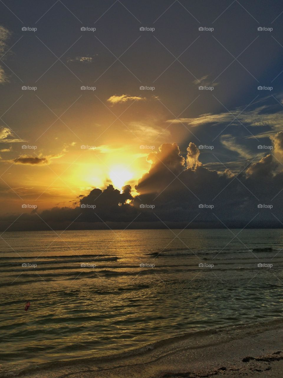 Beach sunset . Sunset on St. Petersburg beach