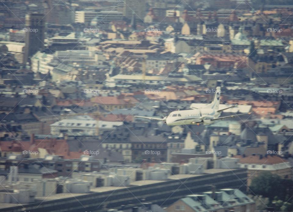 city stockholm plane aircraft by MagnusPm