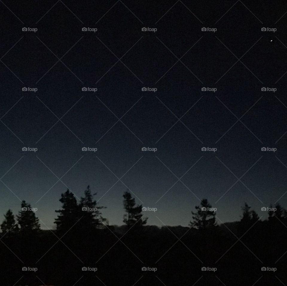 Night sky before dawn