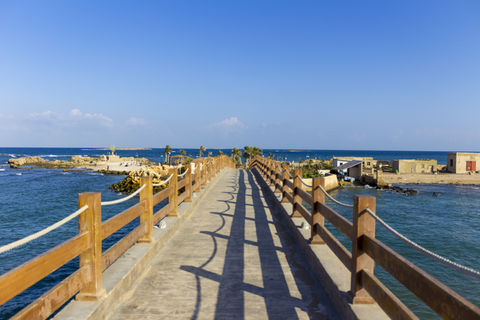 Empty wooden bridge over sea