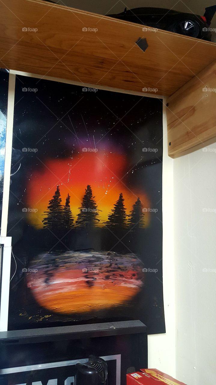 more spray paint art