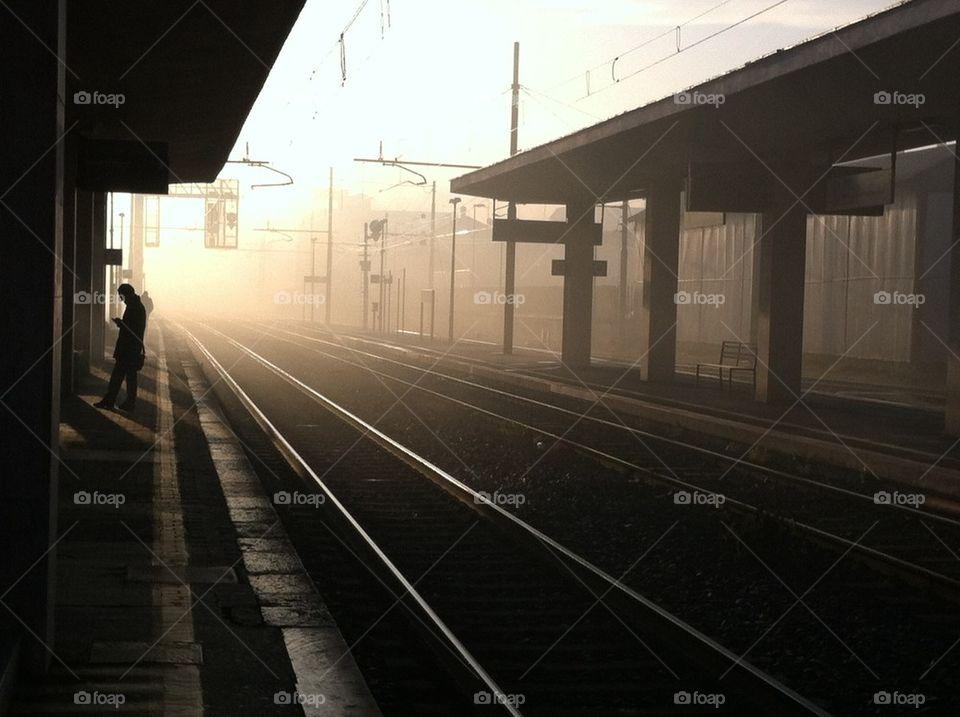 Fog Train Station