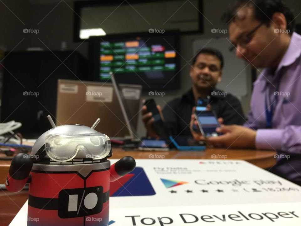 Top android developer . Top developer working on apps