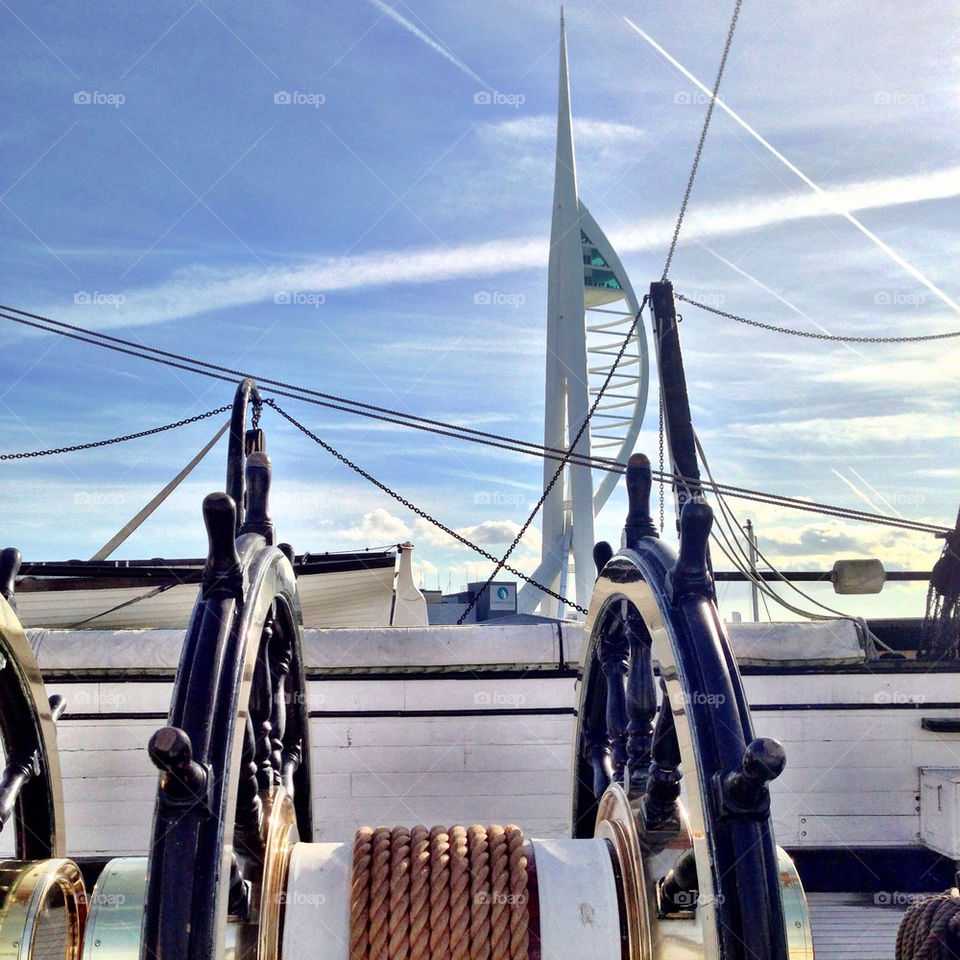 portsmouth sky wheel clouds by craigyman