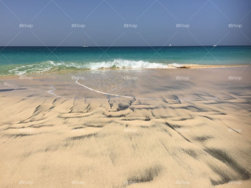By the sea at Santa Maria Cape Verde