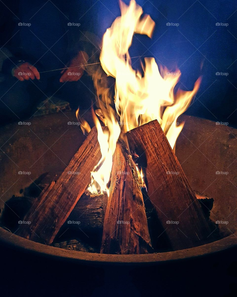 Sizzling summer bonfire
