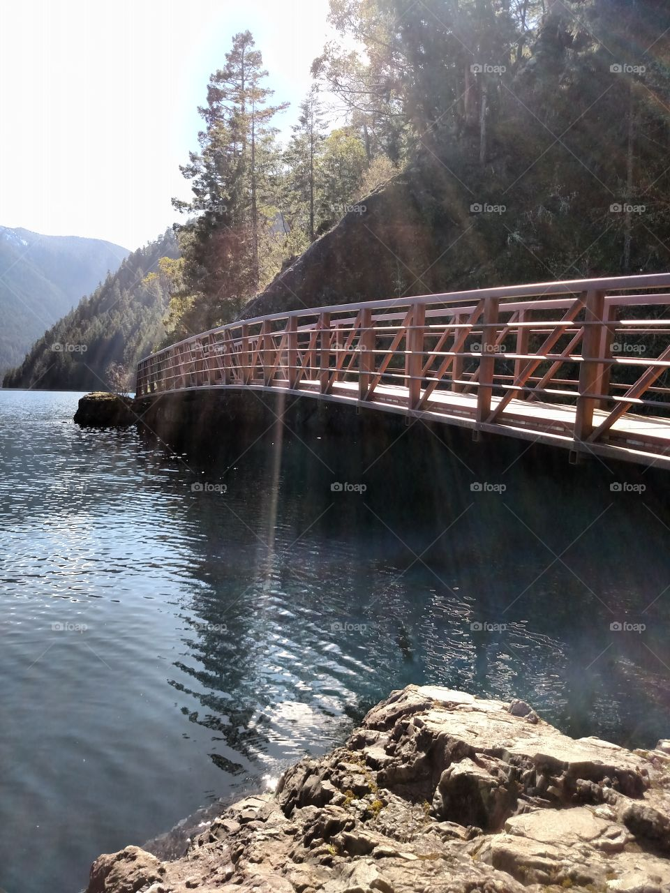 Spruce Railroad Bridge on Lake Crescent in the Pacific Northwest