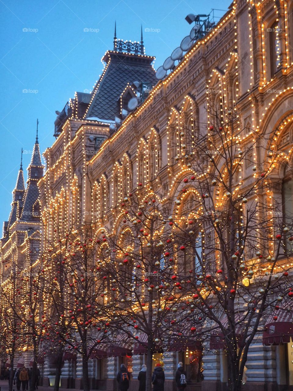 Moscow in lights