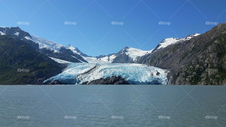 Snow, Ice, Mountain, Water, Landscape