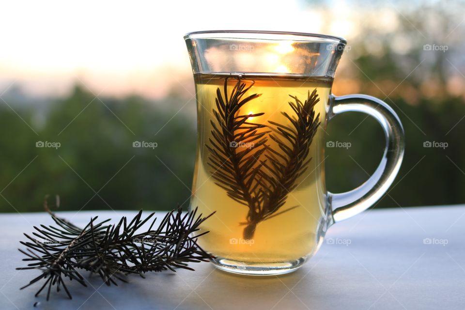 Green tea with rosemary