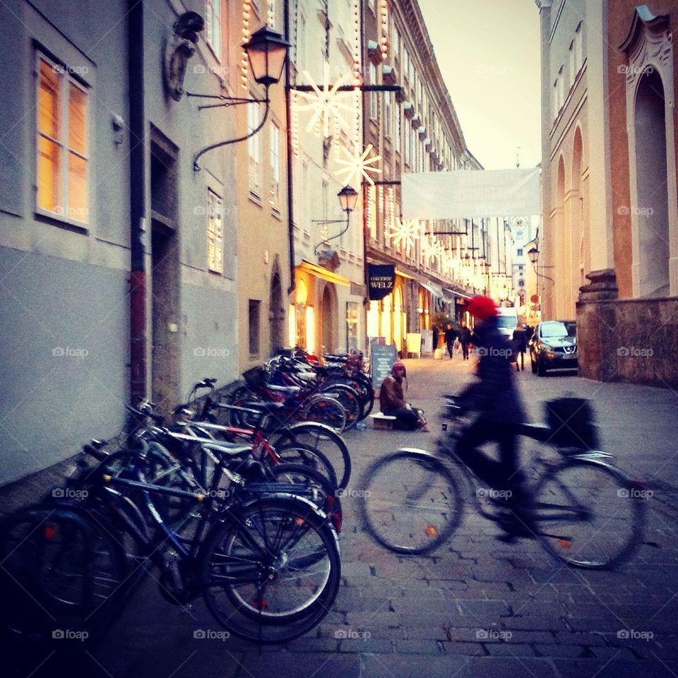 Bikes in the city of salt
