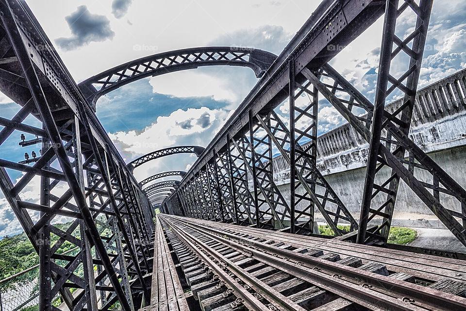 British railroad bridge