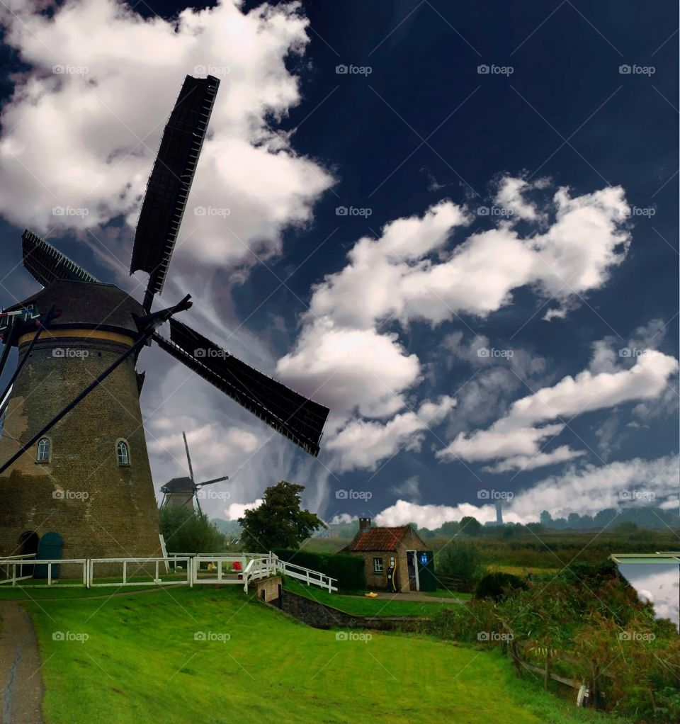 Kindergjk windmills, UNESCO World Heritage Site
