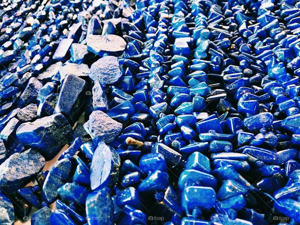 Blue coral stones