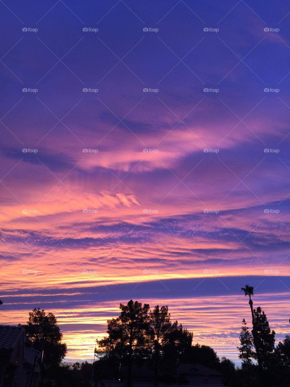 Spectacular sky view during sunrise on dec. 11 2015, around 7:20 am, Arizona. W/ iPhone 6 s plus. No photoshop or photo editor. Natural.