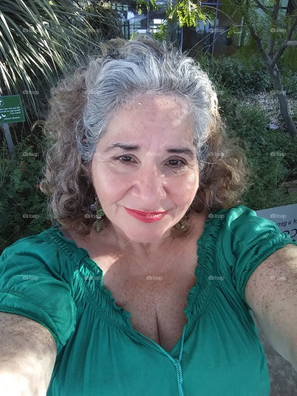 Senior Citizen, Baby boomer, Older Woman, Hispanic Woman, Older lady, sexy lady, cleavage, gray hair, freckles