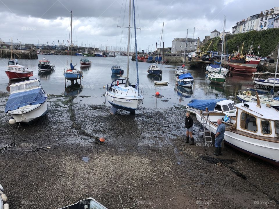 Brixham looking cool and impressive yesterday before the heavy rain and it's boats neatly harbored for all to enjoy.