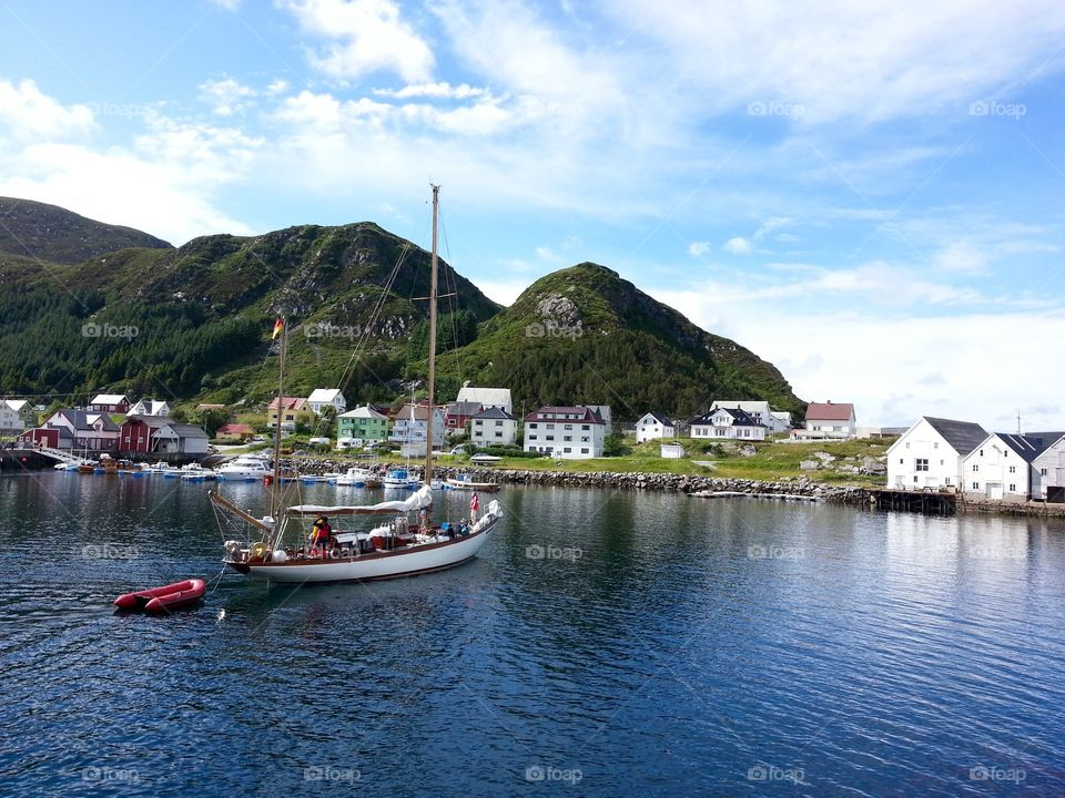 Summer vacation in Norway Runde island.