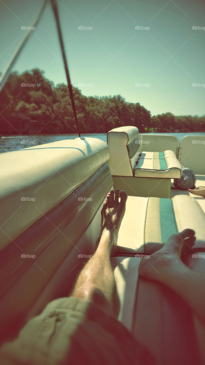 No shoes no problem!. Cruising threw the Florida everglades catching some sun rays!