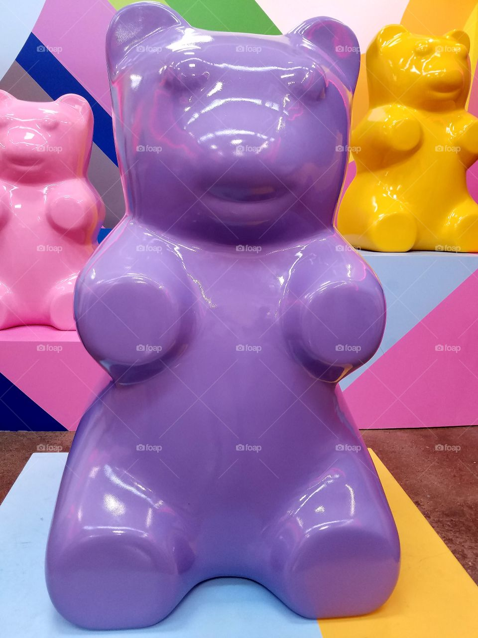Big colorful toy bears