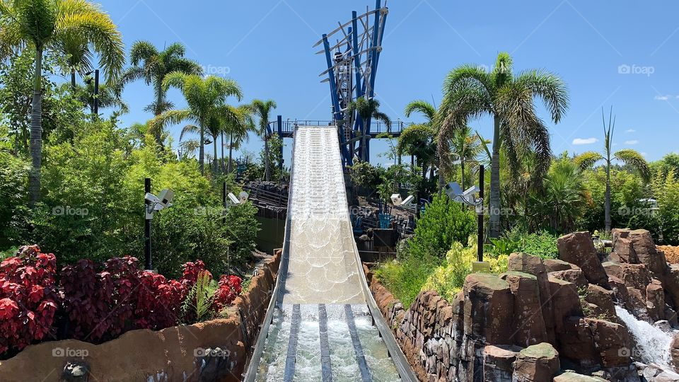 #SeaWorldVlogger I visit SeaWorld Orlando every day.  This summer fun slide is name Infinity Falls!  Today marks #day17 for SeaWorld and #day168 for Walt Disney World! Today's date is 09-17-19!