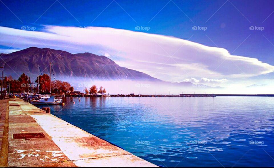 kalamata city of Greece - port