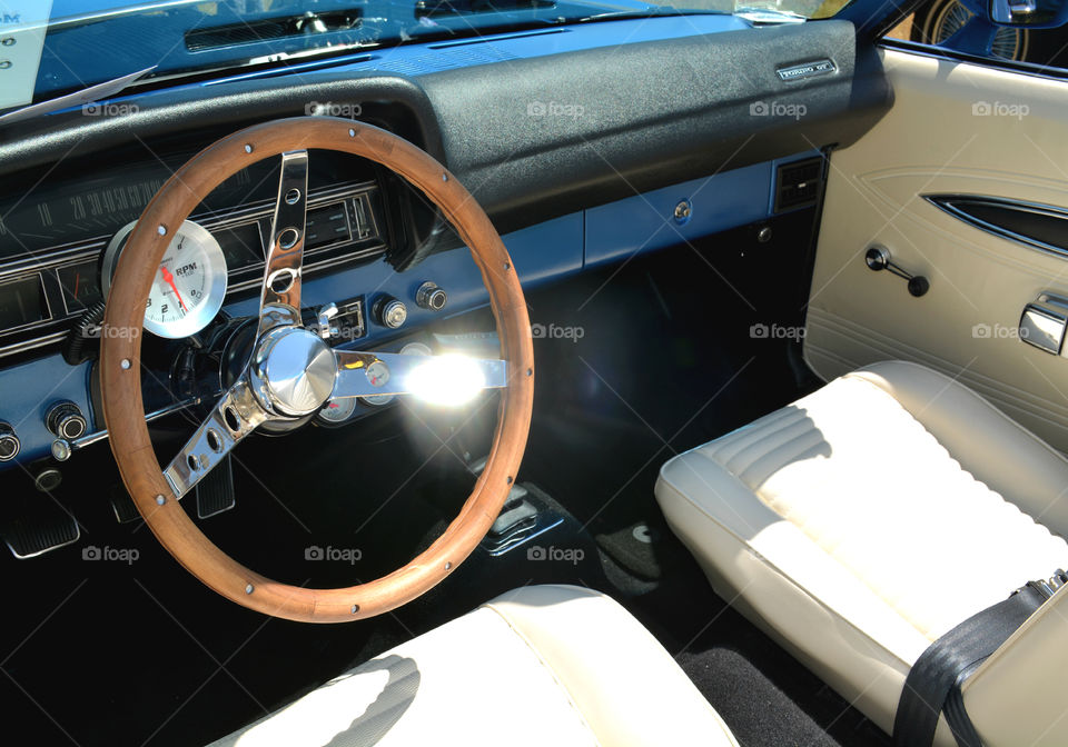Classic Chevy interior