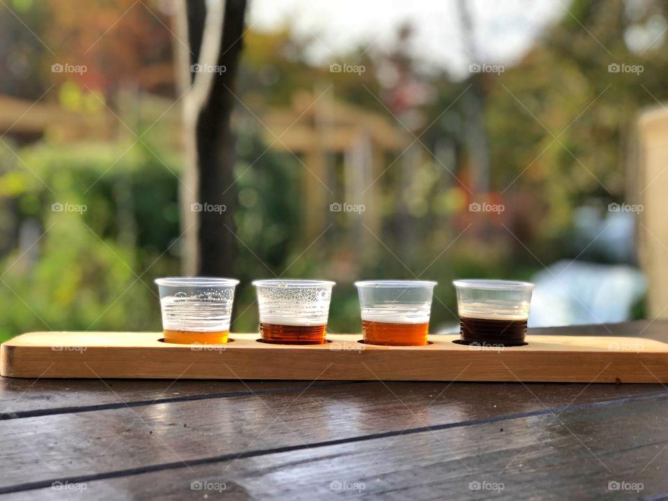 Craft beer brewery brewing beer flight beers drink local craft beer