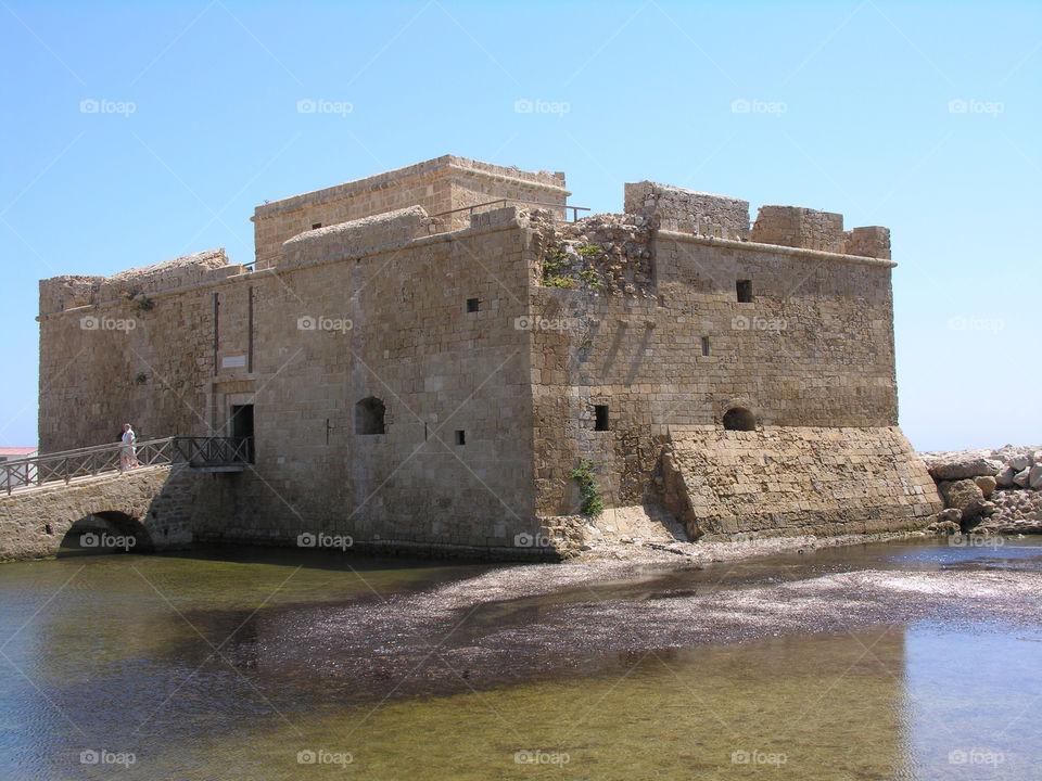 coast castle ancient ruin by snappychappie