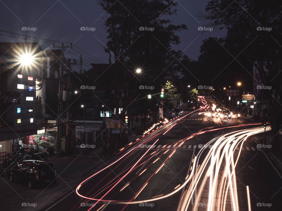 Night scene at Salatiga