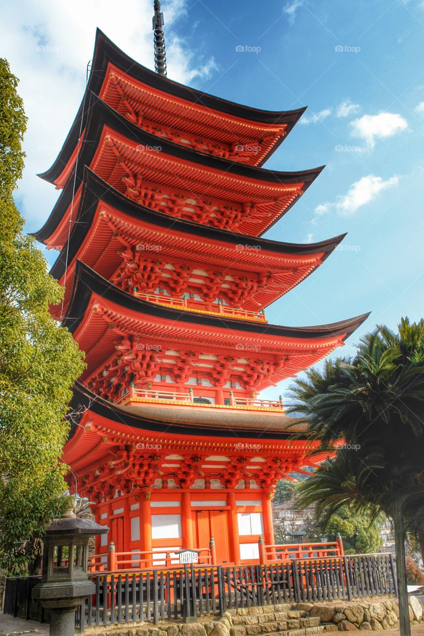 Gojunoto Pagoda, Miyajima Island, Japan. Gojunoto Pagoda, Miyajima Island, Japan
