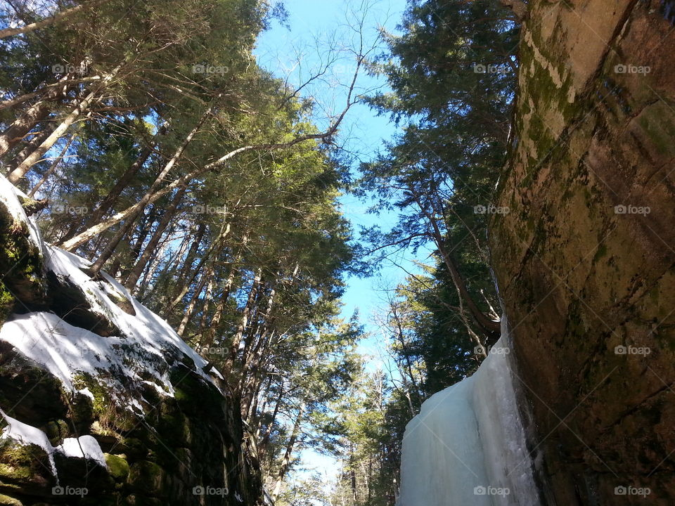 Flume Gorge . New Hampshire state park