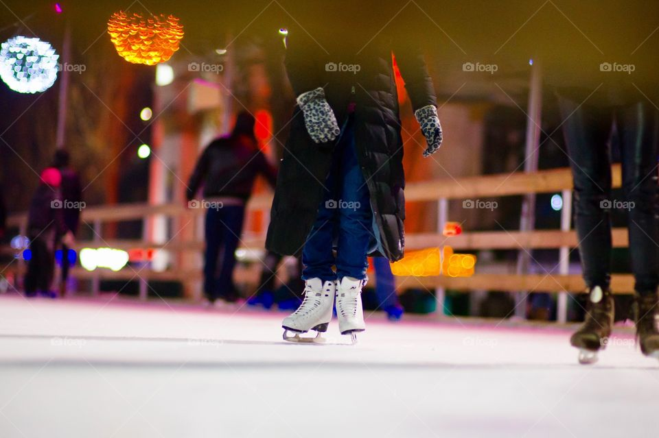 Competition, Winter, City, Blur, People