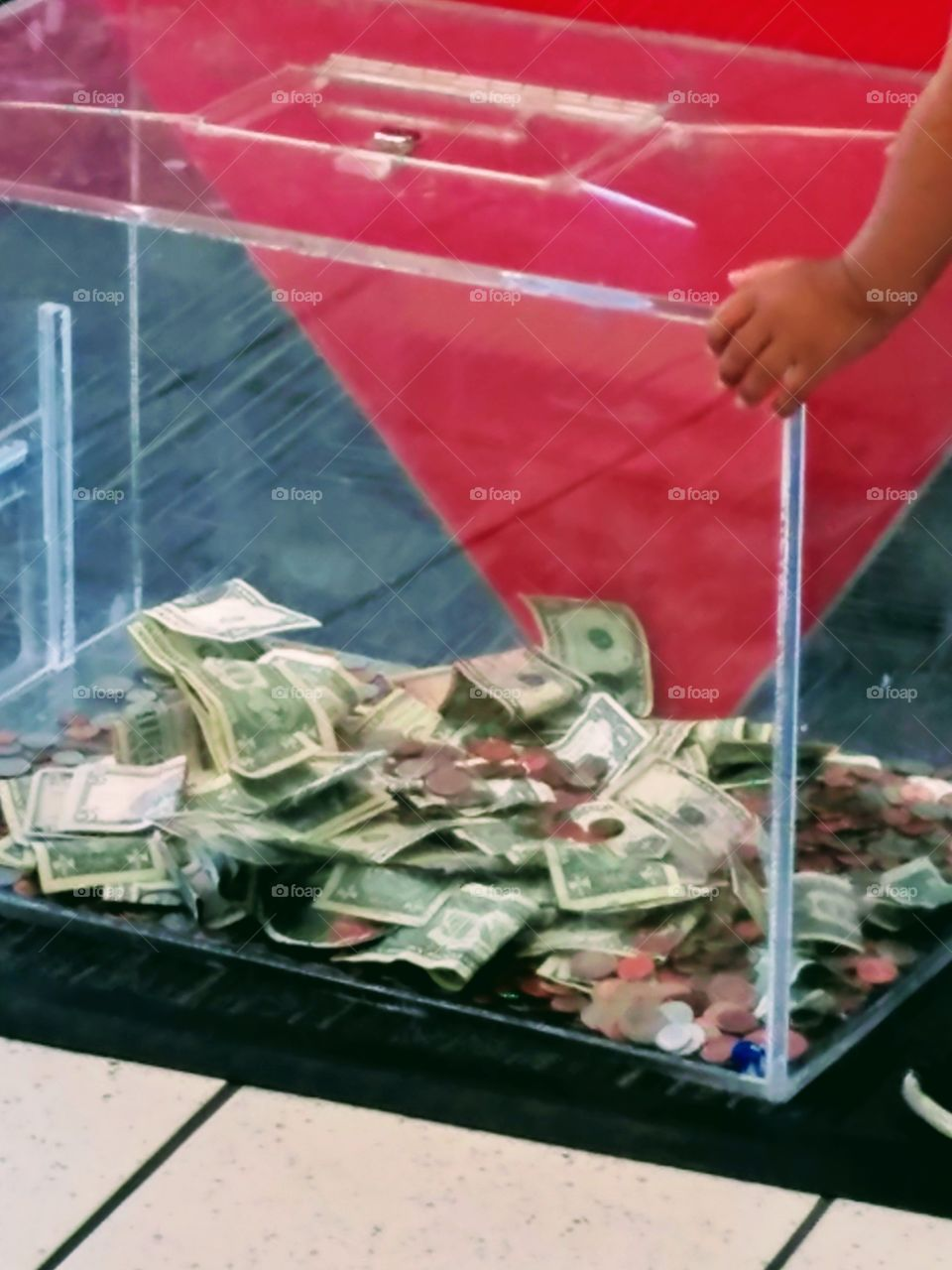Donation Box With Money