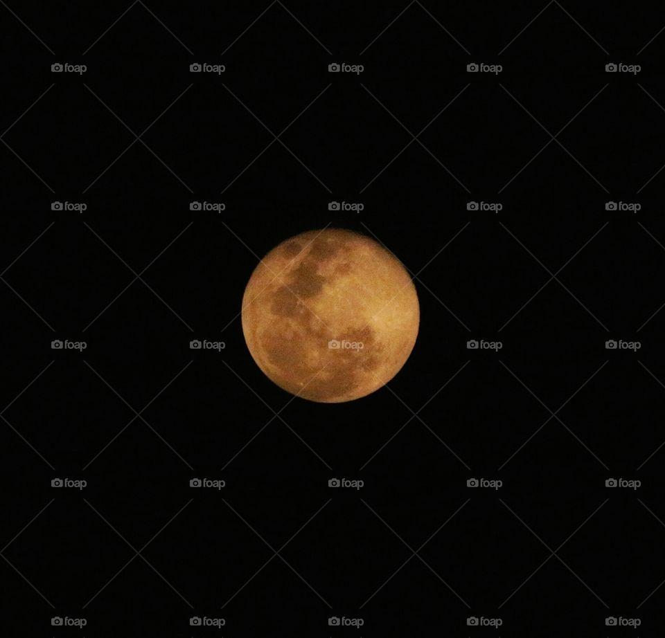 Orange moon ... strange