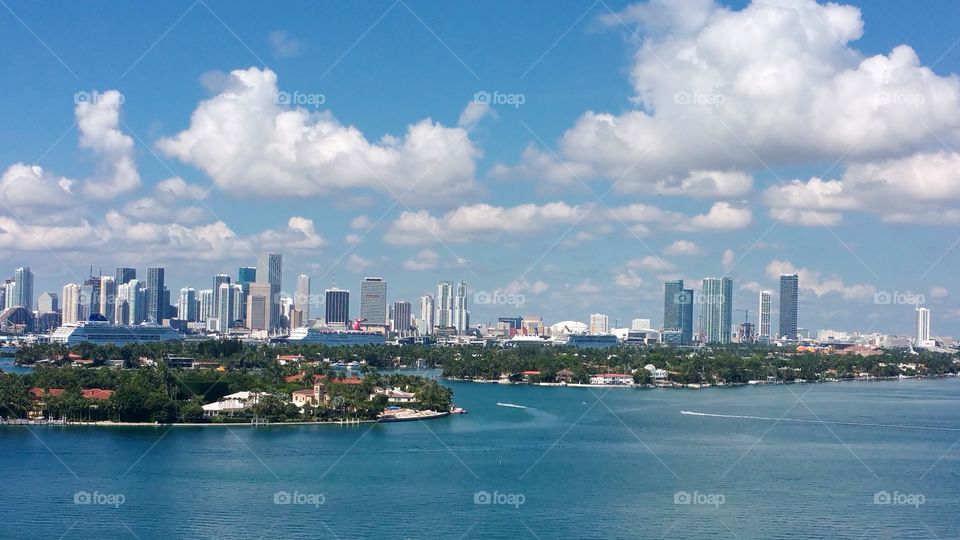 View of Miami from South Beach