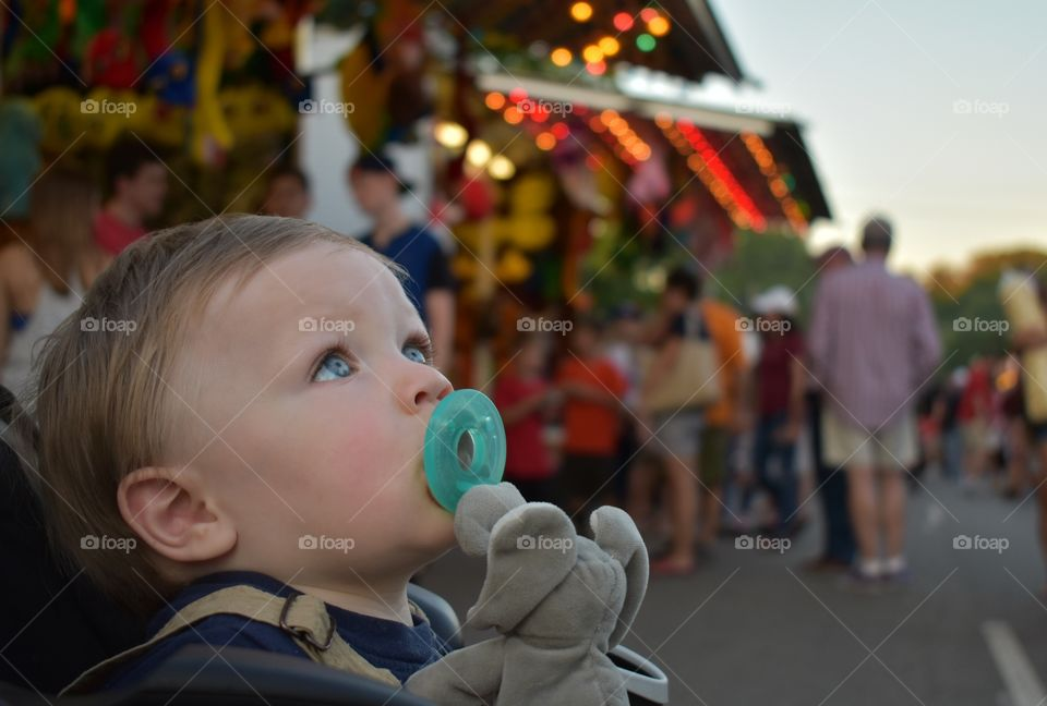 Close-up of boy with pacifier