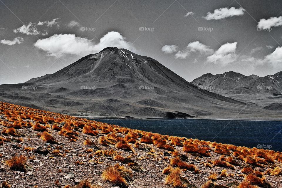 landscape lake desert chile by olijohnson
