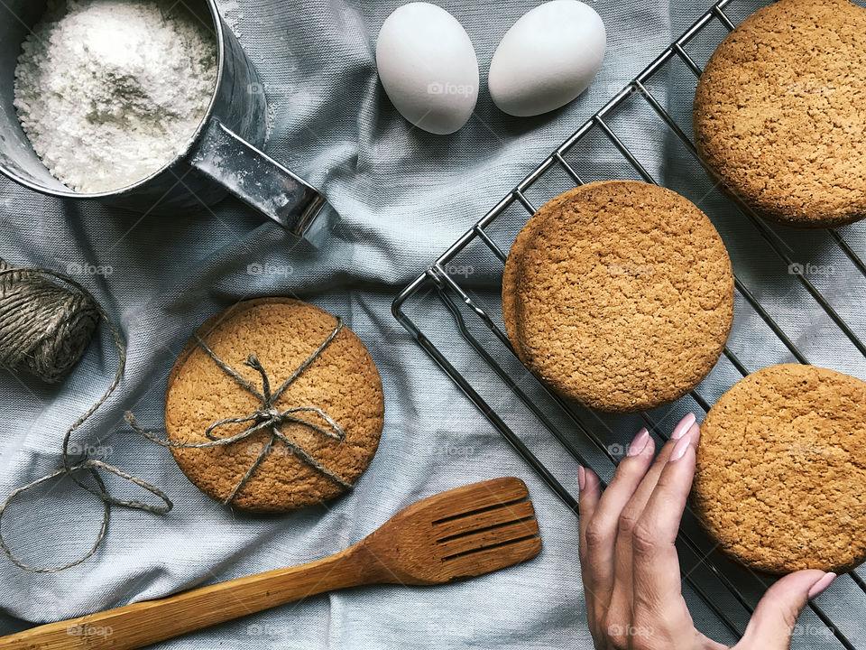 Fresh baked homemade cookies
