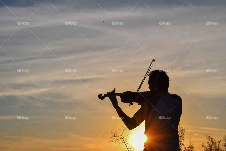 Sunset, Dawn, Sun, Sky, People