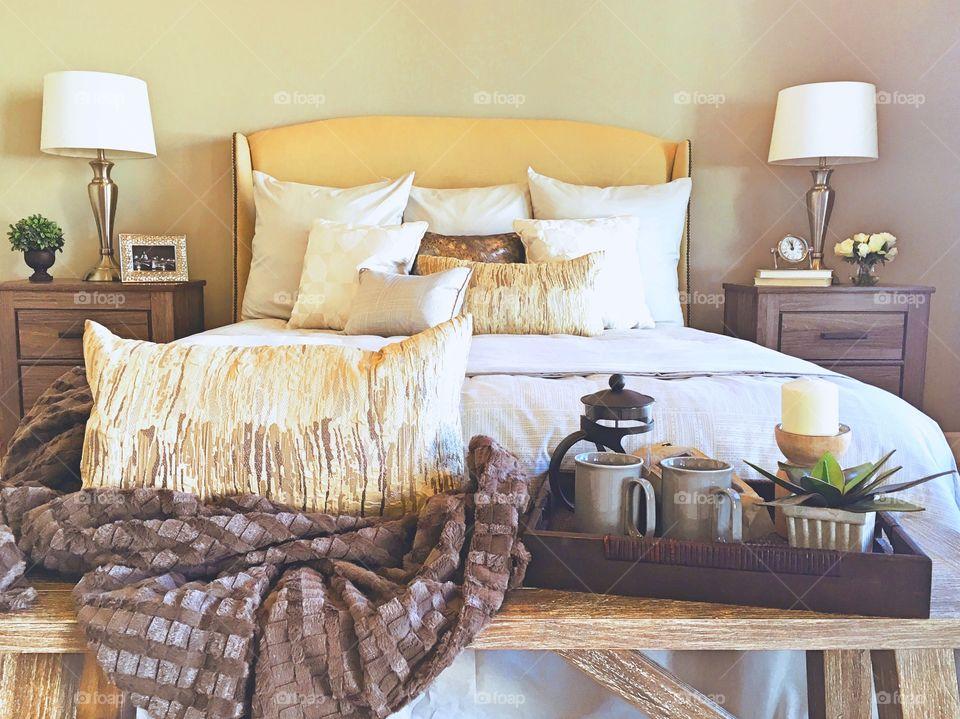 Master Bedroom in model home