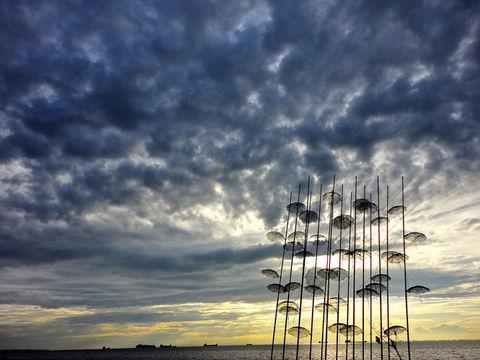 sky clouds sun art by asteris78