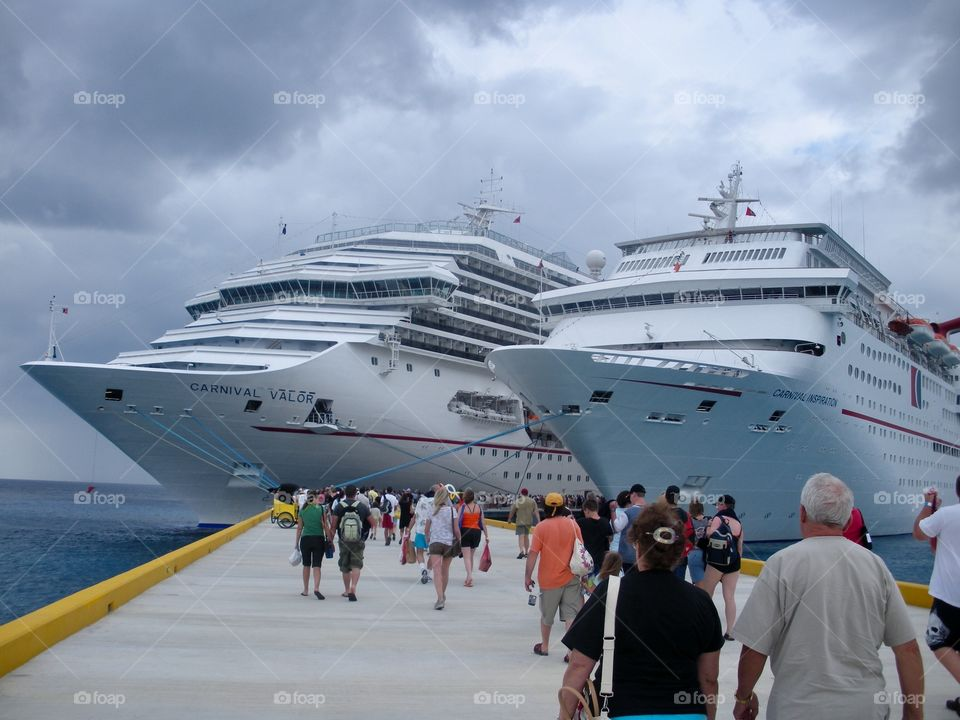 Cruise ships in port